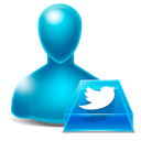 Avatar, twitter Black icon