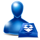 dropbox, Avatar Black icon