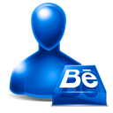 Behance, Avatar Black icon
