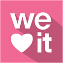 Shadow, media, flat, set, Social, Weheartit PaleVioletRed icon
