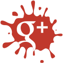 set, Social, google, blot, media Firebrick icon