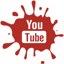 youtube, media, blot, set, Social Firebrick icon