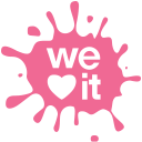 Weheartit, media, set, Social, blot PaleVioletRed icon