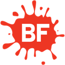 media, Buzzfeed, blot, set, Social OrangeRed icon