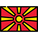 Nation, Country, flags, world, flag, Republic Of Macedonia Crimson icon