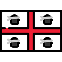 flag, flags, Nation, world, Sardinia, Country Black icon