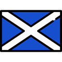 flags, Country, Scotland, world, flag, Nation RoyalBlue icon