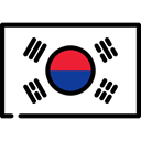 flag, south korea, Nation, world, flags, Country Black icon