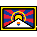 world, Tibet, flags, flag, Country, Nation Black icon