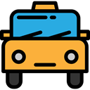 transportation, Car, vehicle, transport, taxi, Automobile, Cab SandyBrown icon
