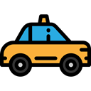Car, vehicle, transportation, taxi, transport, Cab, Automobile Black icon