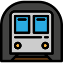 transport, tube, transportation, Subway, Public transport, Directions, train, underground DarkSlateGray icon