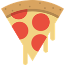 Pizza, Italian Food, slice, food, piece, dough Khaki icon