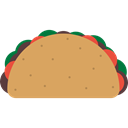 Mexico Icons, Mexican, food, Foods, Mexico, tacos, Typical, Taco SandyBrown icon