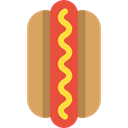 Sausage, junk food, Hot Dog, Fast food, food SandyBrown icon
