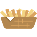 Restaurant, Fast food, fries, junk food, french fries, Potatoes, food Icon