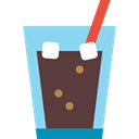beverage, drinks, glass, food, straw, soda DarkOliveGreen icon