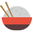 Asian, Japanese Food, Chinese Food, Bowls, rice, food Tomato icon