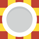 Plate, dinner, Restaurant, Crockery, Food And Restaurant, Tools And Utensils, Dish LightGray icon