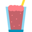 Chocolate, cup, food, milkshake, straw, Dessert, drink IndianRed icon