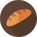 Bakery, Bread, bun, food, Food And Restaurant, Roll, baked DarkOliveGreen icon