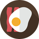 Lunch, breakfast, meal, food, eggs, Bacon, Food And Restaurant Icon
