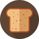 dinner, Bread, food, Breads, loaf, Food And Restaurant, Lunch, breakfast DarkOliveGreen icon