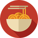 Italian Food, Food And Restaurant, noodles, Pasta, food, Spaguetti Firebrick icon