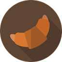 food, Breads, croissant, Bread, Food And Restaurant, french, baked, Bakery, Croissants DarkOliveGreen icon