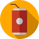 cola, food, Can, Food And Restaurant, coke, drink, tin Orange icon