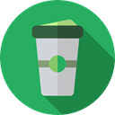 Paper Cup, Take Away, Food And Restaurant, Coffee, coffee cup, hot drink, food, Coffee Shop MediumSeaGreen icon