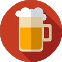 mug, beer, Pint Of Beer, Pint, Beer Mug, food, Food And Restaurant, drink Firebrick icon