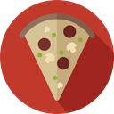Unhealthy, food, Food And Restaurant, Pizza, junk food, Pizzas, Fast food, Italian Food Firebrick icon