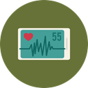 hospital, Health Clinic, medical, Stats, Electrocardiogram, Cardiogram DarkOliveGreen icon