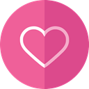 Heart, hospital, medical, heal, Health Care, health PaleVioletRed icon