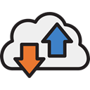 share, Computing Cloud, Multimedia Option, Tools And Utensils, shared, Cloud, interface, Multimedia Black icon