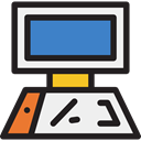 monitor, screen, Computer, Tools And Utensils, technology WhiteSmoke icon