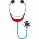 medical, Healthcare And Medical, Phonendoscope, health, stethoscope, doctor Black icon