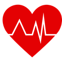 heart rate, Cardiogram, Heart, Healthcare And Medical, pulse, Electrocardiogram, medical Red icon