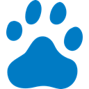 logotype, Baidu, symbol, Footprint, search, search engine, Paw, social media, China, Logo DarkCyan icon