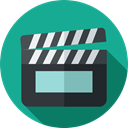 cinema, Movies, Music And Multimedia, movie, Cinema Icons, clapper, Clapperboard LightSeaGreen icon