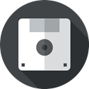 Flash Disk, Multimedia, Diskette, interface, save, technology, Save File, Floppy disk, Music And Multimedia DarkSlateGray icon