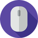 clicker, computing, technology, computer mouse, Mouse, Music And Multimedia, electronic, Technological DarkSlateBlue icon