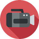 film, Video Cameras, Camera, movie, Music And Multimedia, cinema, video camera, technology IndianRed icon