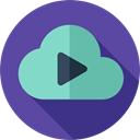 Cloud computing, interface, Data, Music And Multimedia, Multimedia Option, Cloud, Multimedia, play, storage, Play button DarkSlateBlue icon