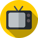 technology, Tv, Music And Multimedia, monitor, television, screen Gold icon