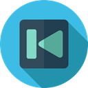 music player, Multimedia Option, Music And Multimedia, video player, previous, previous track, Multimedia MediumTurquoise icon
