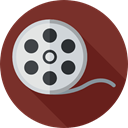 film, Music And Multimedia, interface, filming, video player, movie, technology, film reel, cinema SaddleBrown icon