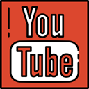 Streaming, video player, logotype, Logos, social network, Logo, youtube, social media Chocolate icon