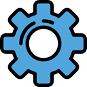 Gear, Tools And Utensils, cogwheel, settings, configuration, Seo And Web CornflowerBlue icon
